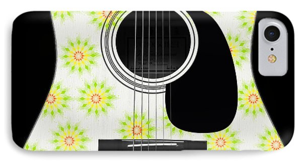 Floral Abstract Guitar 6 IPhone Case by Andee Design