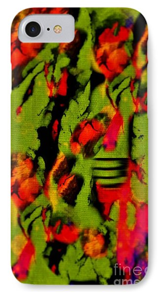 Floral Arrrangement Abstract Phone Case by John Malone