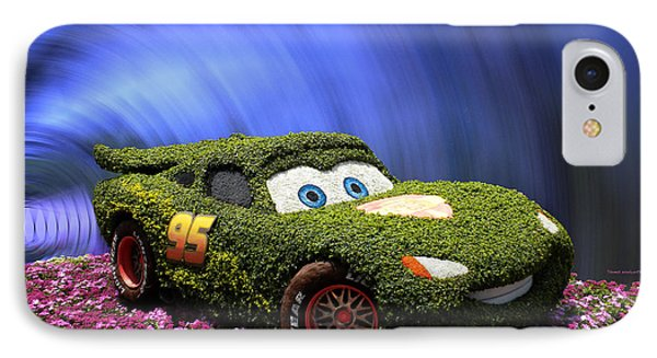 Floral Lightning Mcqueen Phone Case by Thomas Woolworth