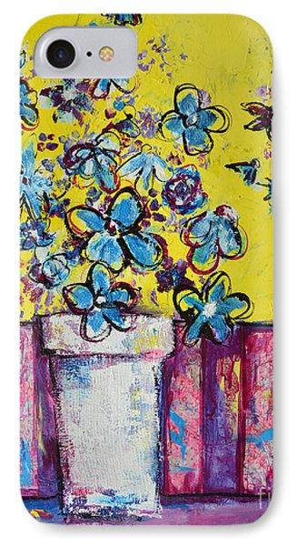 Floral Still Life Blue Hues IPhone Case by Patricia Awapara