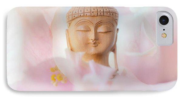 Flower Buddha 3 IPhone Case by Jenny Rainbow