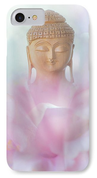 Flower Buddha IPhone Case by Jenny Rainbow