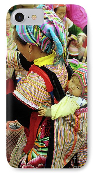 Flower Hmong Baby 03 Phone Case by Rick Piper Photography