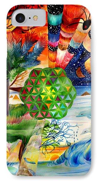 Flower Of Life  IPhone Case by Stephanie Koenig