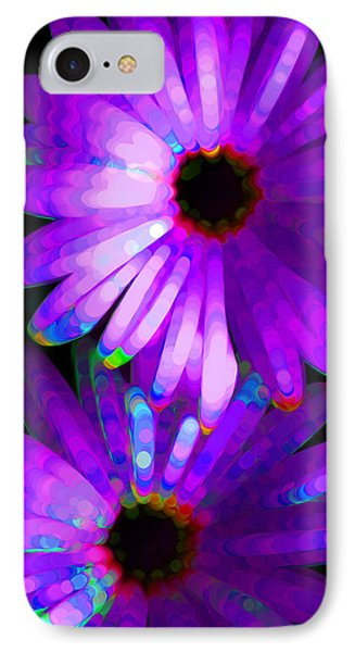 Flower Study 6 - Vibrant Purple By Sharon Cummings Phone Case by Sharon Cummings
