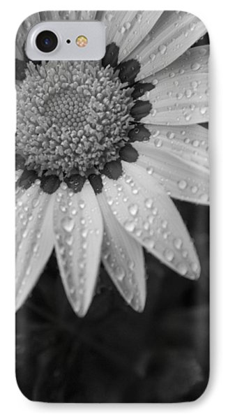 Flower Water Droplets Phone Case by Ron White