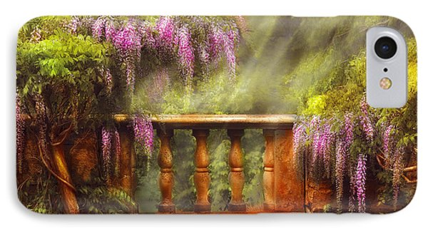Flower - Wisteria - A Lovers View Phone Case by Mike Savad