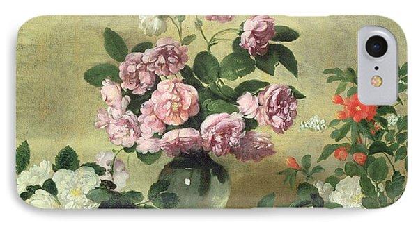 Flowers And Fruit IPhone Case by Bernardo Strozzi