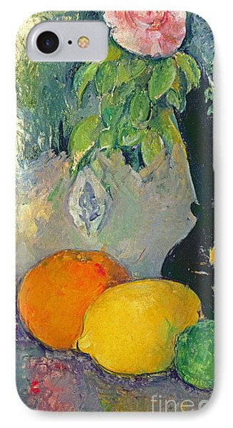 Flowers And Fruits IPhone Case by Paul Cezanne