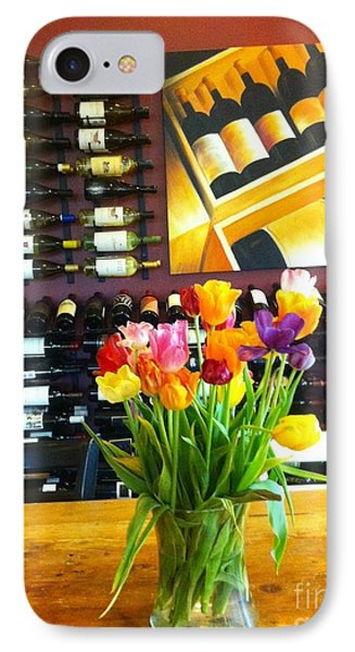Flowers And Wine Phone Case by Susan Garren
