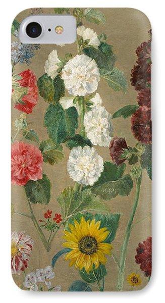 Flowers IPhone Case by Ferdinand Victor Eugene Delacroix