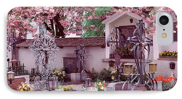 Flowers On Tombstones, Tirol, Austria IPhone Case by Panoramic Images