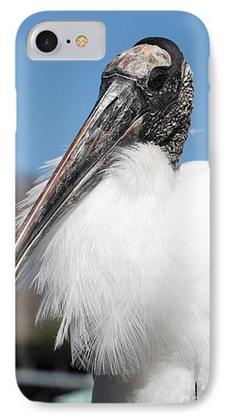 Fluffy Wood Stork IPhone 7 Case by Carol Groenen