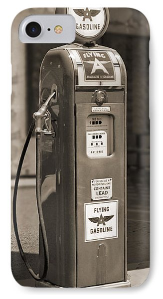 Flying A Gasoline - National Gas Pump 2 Phone Case by Mike McGlothlen