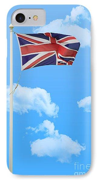 Flying Union Jack IPhone Case by Amanda Elwell