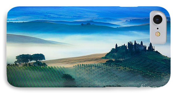 Fog In Tuscan Valley IPhone Case by Inge Johnsson