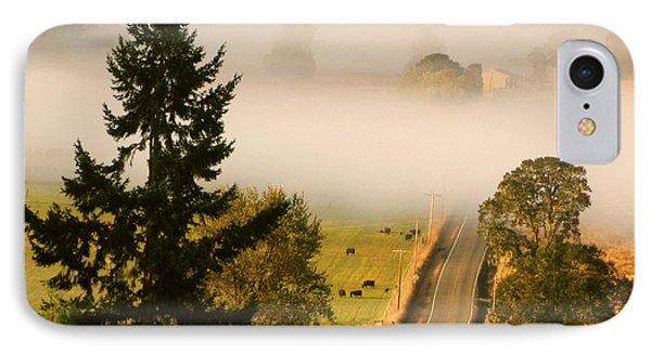 Foggy Morning Drive Phone Case by Katie Wing Vigil