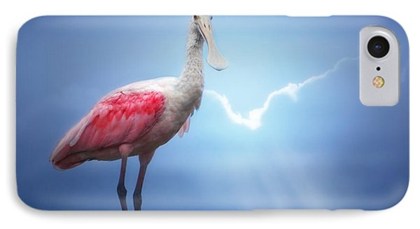 Foggy Morning Spoonbill IPhone Case by Mark Andrew Thomas