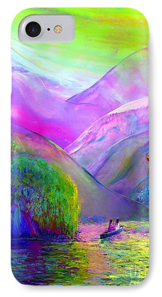 Love Is Following The Flow Together IPhone Case by Jane Small