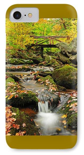 Foot Bridge- Macedonia Brook State Park Phone Case by Thomas Schoeller