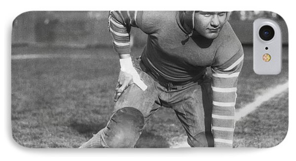 Football Fullback Player IPhone Case by Underwood Archives