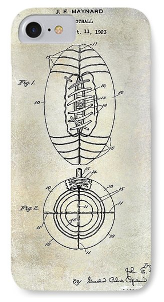 1925 Football Patent Drawing IPhone Case by Jon Neidert
