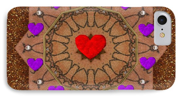 For The Love Of Hearts Phone Case by Pepita Selles