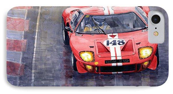 Ford Gt 40 24 Le Mans  Phone Case by Yuriy  Shevchuk