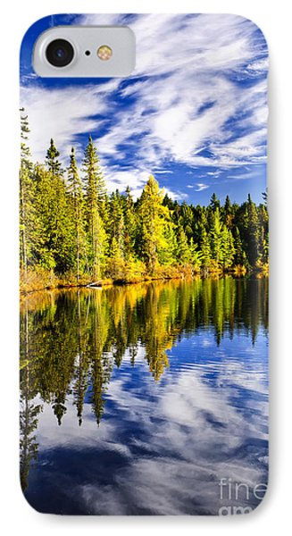 Forest And Sky Reflecting In Lake Phone Case by Elena Elisseeva