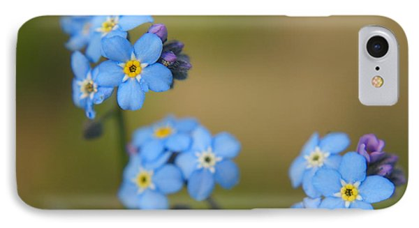 Forget Me Not 01 - S01r IPhone Case by Variance Collections