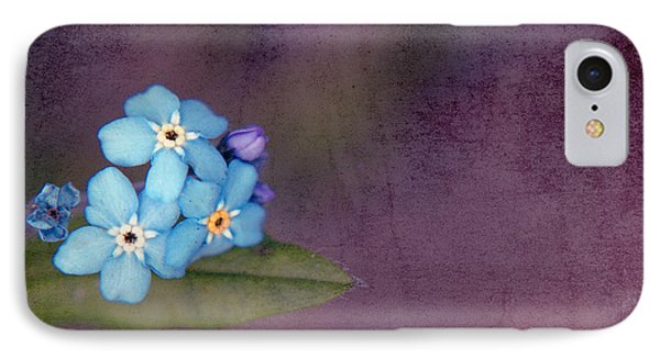 Forget Me Not 02 - S0304bt02b IPhone Case by Variance Collections