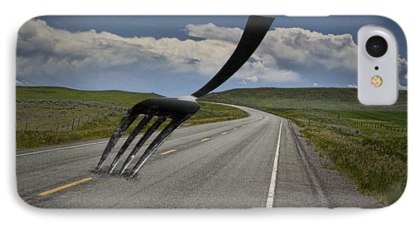 Fork In The Road IPhone Case by Randall Nyhof