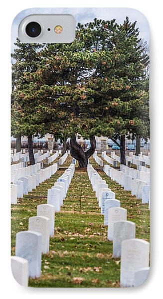 Fort Snelling National Cemetery IPhone Case by Paul Freidlund