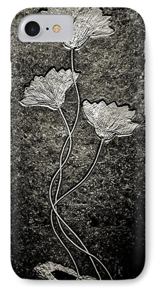 Fossilized Flowers Phone Case by Dan Sproul