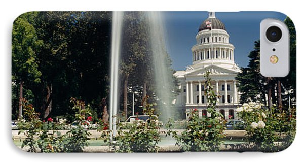 Fountain In A Garden In Front IPhone 7 Case by Panoramic Images