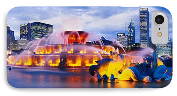 Fountain Lit Up At Dusk, Buckingham IPhone Case by Panoramic Images