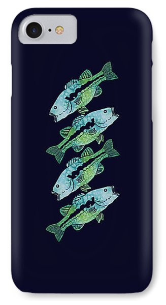 Four Bass IPhone Case by Jenny Armitage
