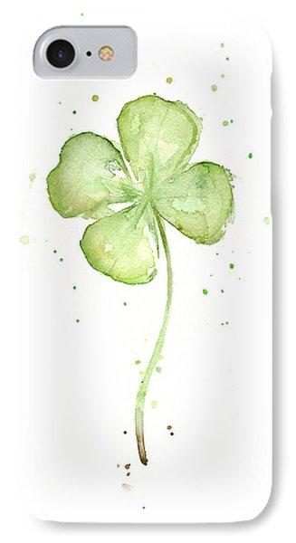 Four Leaf Clover Lucky Charm IPhone Case by Olga Shvartsur