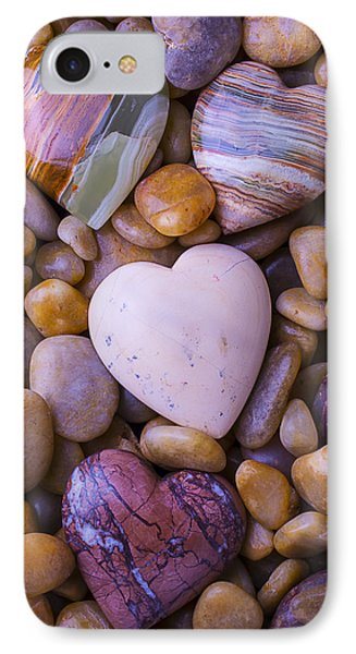 Four Stone Hearts IPhone Case by Garry Gay