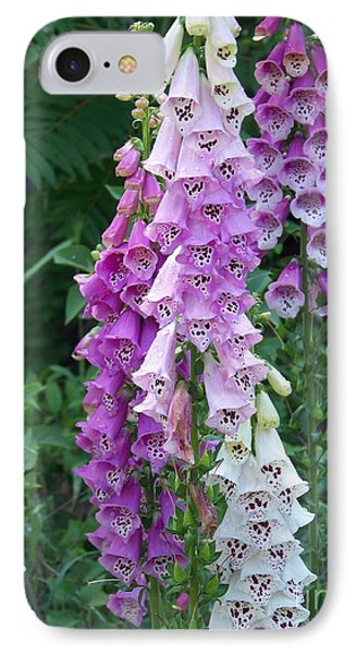 Foxglove After The Rains Phone Case by Eunice Miller