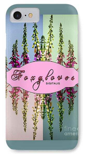 Foxgloves Times 4 Phone Case by Margaret Newcomb