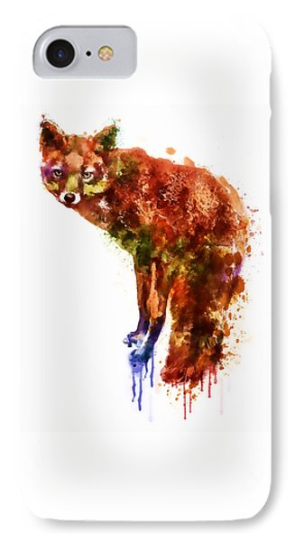 Foxy Lady Watercolor IPhone Case by Marian Voicu