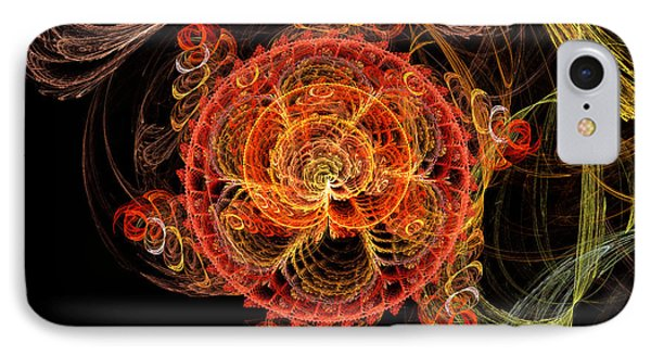 Fractal - Abstract - Mardi Gras Molecule Phone Case by Mike Savad