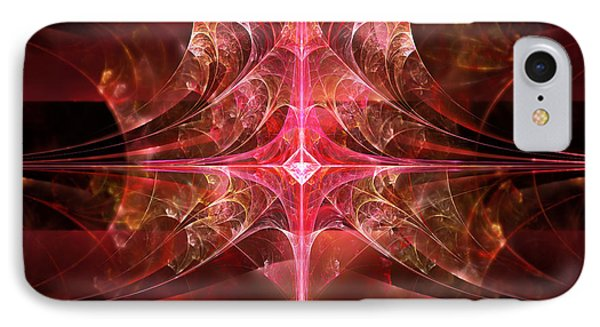 Fractal - Abstract - The Essecence Of Simplicity Phone Case by Mike Savad