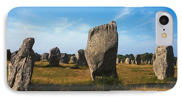 France Brittany Carnac Ancient Megaliths  IPhone Case by Anonymous