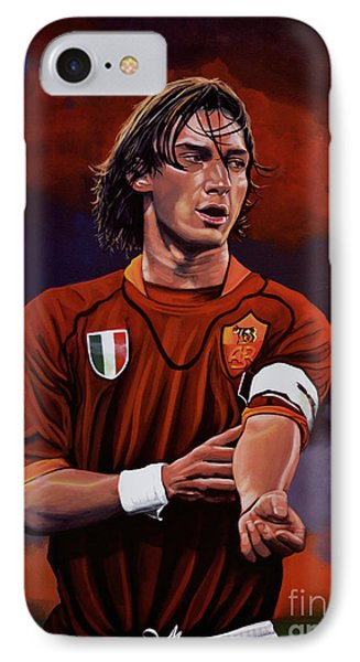 Francesco Totti IPhone 7 Case by Paul Meijering