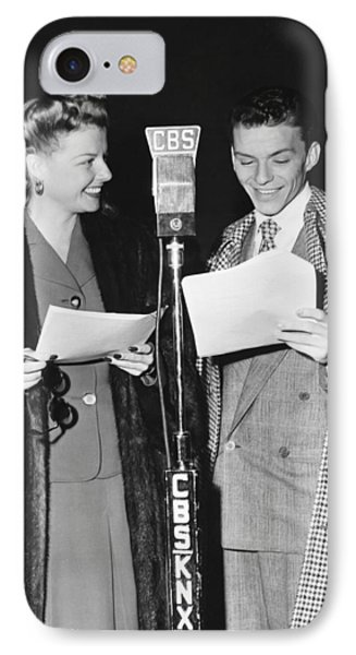 Frank Sinatra And Ann Sheridan IPhone Case by Underwood Archives