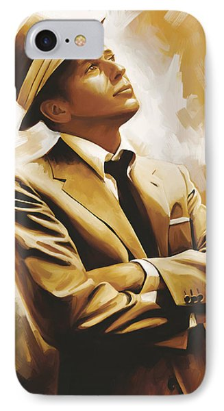 Frank Sinatra Artwork 1 IPhone Case by Sheraz A