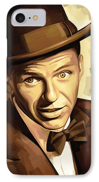 Frank Sinatra Artwork 2 IPhone Case by Sheraz A