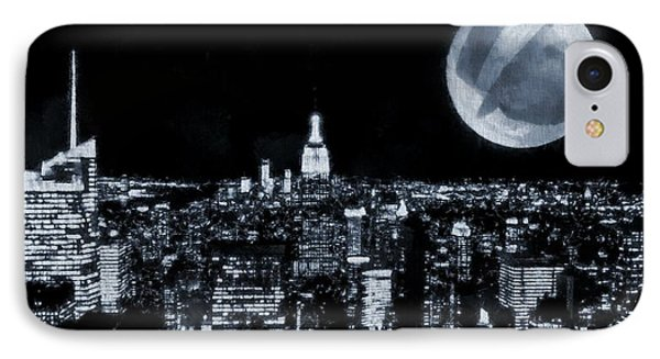Frank Sinatra New York City Moon IPhone Case by Dan Sproul